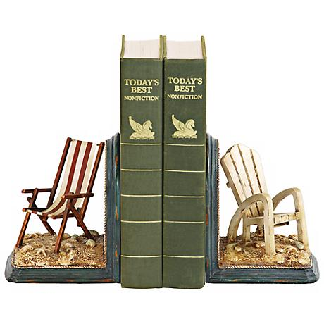 Beach Chair Bookends Set