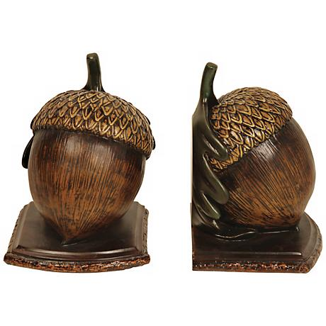 Muir Woods Acorn Bookends Set