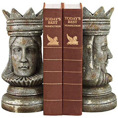 King and Queen Bookends Set