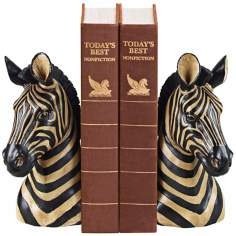 Sterling Zebra Bookends