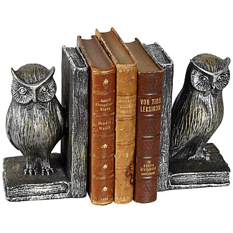 Standing Owl Bookends Set