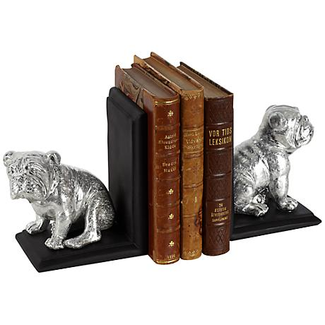 Sitting Bulldog Bookends Set