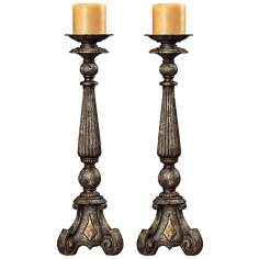 Set of 2 Burntwick Candle Holders