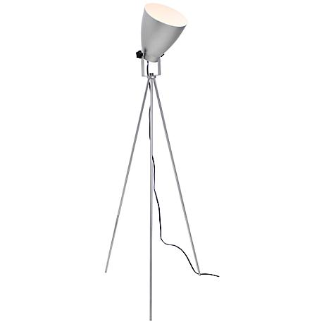 Ekko Reader Silver Spotlight Floor Lamp