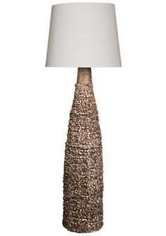 Carraba Coffee Natural Spun Bamboo Floor Lamp