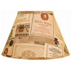 Wine Labels Empire Lamp Shade 6x12x8 (Spider)