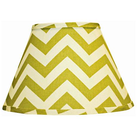 Village Green Chevron Empire Lamp Shade 6x12x8 (Spider)