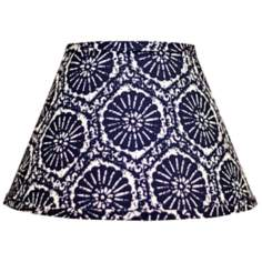 Indigo Graphic Empire Lamp Shade 8x14x10.25 (Spider)