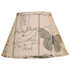 Antique Ledger And Fossil Lamp Shade 9x16x12 (Spider)