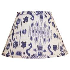 Empire Indigo Ikat Print Lamp Shade 9x16x12 (Spider)