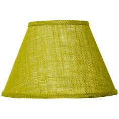 Avocado Green Cotton Burlap Lamp Shade 9x16x12 (Spider)
