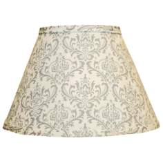 Gray Block Print Empire Lamp Shade 9x16x12 (Spider)