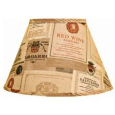 Wine Labels Empire Lamp Shade 9x16x12 (Spider)
