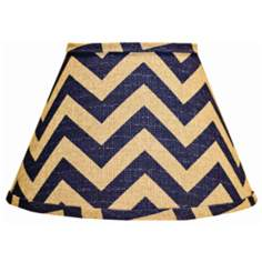 Empire Indigo Chevron Lamp Shade 9x16x12 (Spider)
