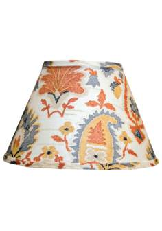 Orange And Blue Graphics Lamp Shade 10x18x13 (Spider)