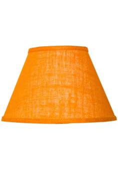 Orange Cotton Burlap Lamp Shade 10x18x13 (Spider)