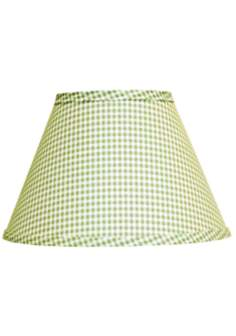Fern Green Gingham Checked Lamp Shade 10x18x13 (Spider)
