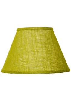 Avocado Green Cotton Burlap Lamp Shade 10x18x13 (Spider)