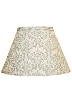 Gray Block Print Empire Lamp Shade 10x18x13 (Spider)