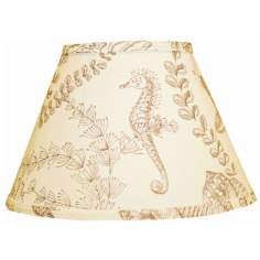 Tan Nautical On Cream Lamp Shade 10x18x13 (Spider)