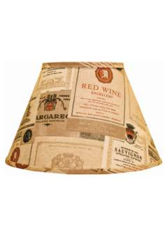 Wine Labels Empire Lamp Shade 10x18x13 (Spider)