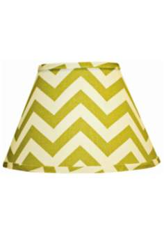 Village Green Chevron Lamp Shade 10x18x13 (Spider)