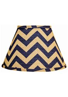 Indigo Chevron Empire Lamp Shade 10x18x13 (Spider)
