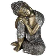 Sleeping Buddha Silver Sculpture