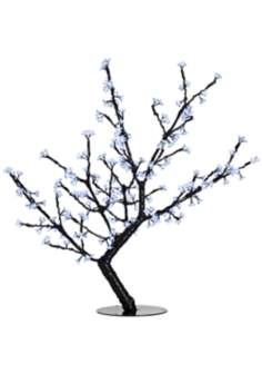 "44"" White Cherry Blossoms LED Floor Lamp"