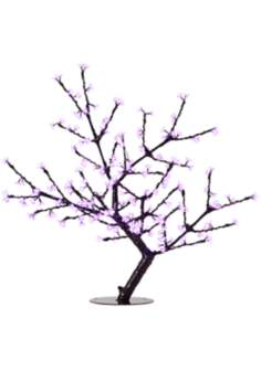 "44"" Pink Cherry Blossoms LED Floor Lamp"