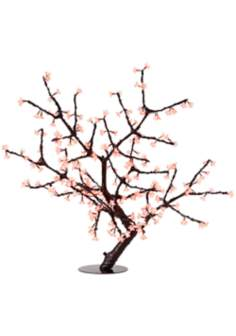 "44"" Red Cherry Blossoms LED Floor Lamp"
