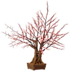 "60"" Red Cherry Blossoms LED Floor Lamp"