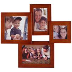 Mahogany 4 Photo Collage Frame