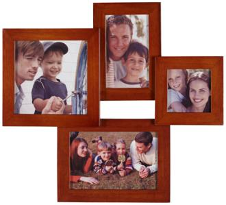 Mahogany 4 Photo Collage Frame (2P368)