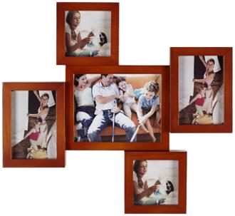 Mahogany 5 Photo Collage Frame (2P370)