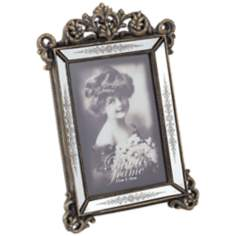 Lindsay Antique Gold and Mirror 5x7 Photo Frame