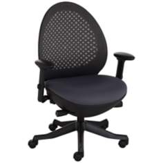 Ovo Gray and Black Mesh Back Adjustable Office Chair