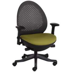 Ovo Green and Black Mesh Back Adjustable Office Chair