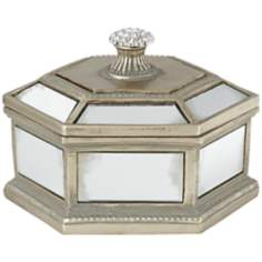 Morena Mirrored Gold Covered Box