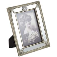 Morena Mirrored Gold 5x7 Picture Frame