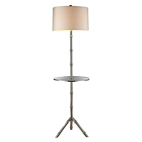 Dimond Stanton Silver Plated Floor Lamp with Tray Table