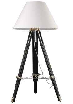 Dimond Studio Chrome and Black Tripod Floor Lamp