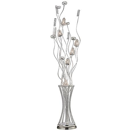 Dimond Cyprus Gardens Satin Nickel Floor Lamp
