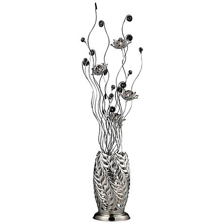 Dimond Cyprus Park Chrome and Black Floor Lamp
