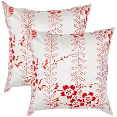"Textural Poppy 18"" Square Throw Pillow"