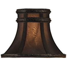 Charcoal Brown Silk Bell Lamp Shade 3x6x4.5 (Clip-On)