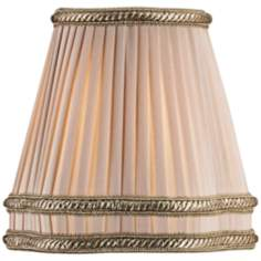 Beige Shantung Pleated Empire Shade 3x6x4.5 (Clip-On)