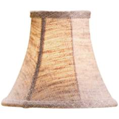 Medium Natural Linen Bell Lamp Shade 3x6x5 (Clip-On)