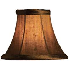 Gold Dupioni Silk Bell Lamp Shade 3x6x5 (Clip-On)