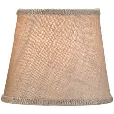 Large Putty Linen Empire Lamp Shade 5x7x6 (Clip-On)
